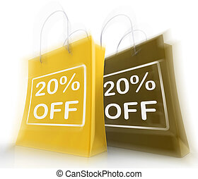 Twenty Percent Off On Bags Shows 20 Bargains
