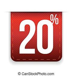Twenty percent off ribbon red