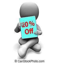 Twenty Percent Off Tablet Means 20% Discount Or Sale Online...