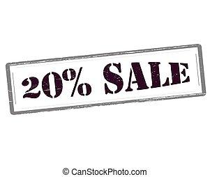 Twenty percent sale