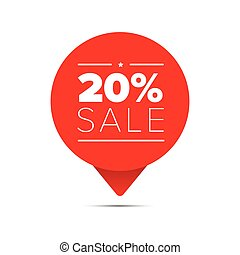 Twenty percent sale offer tag