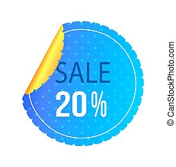 Twenty Percent Sale Poster Vector Illustration