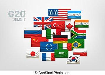 twenty., pojęcie, szczyt, świat, g20, grupa, og