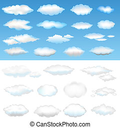 Twenty Six Clouds, Vector Illustration
