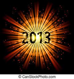 Twenty Thirteen Year - Gold abstract Happy New Year Twenty...