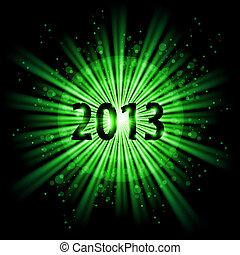 Twenty Thirteen Year - Green abstract Happy New Year Twenty...