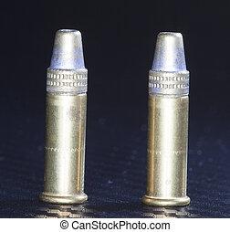 Twenty two cartridges
