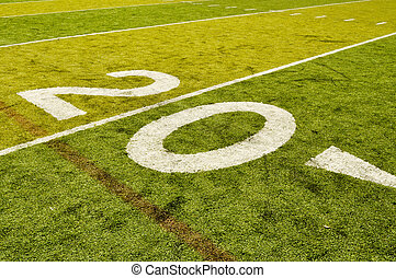Twenty Yard Line on American Football Field