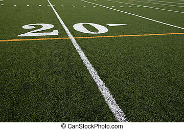 Twenty Yard Line - shot of the twenty yard line on a...