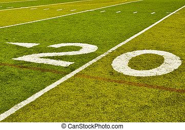 Twenty Yard Line - Twenty Yard 20 Line on American Football...