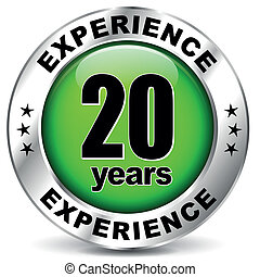 Twenty years experience - Vector illustration of twenty...