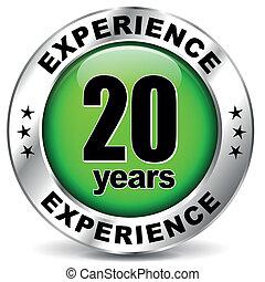 Twenty years experience - Vector illustration of twenty ...