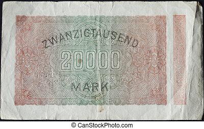 Twentythousand mark note