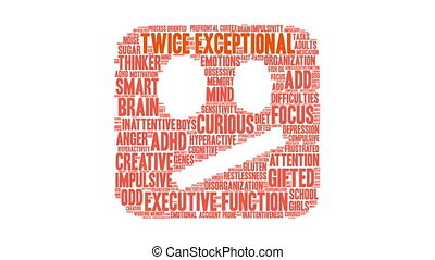 Twice Exceptional Word Cloud - Twice Exceptional ADHD word...