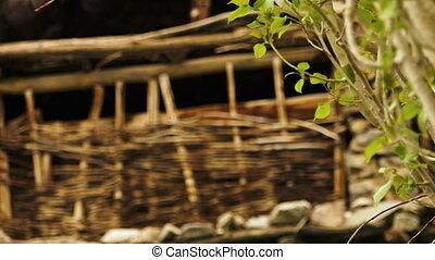 Twig-fence at the ruins of Hundarman town, Kargil - Close up...