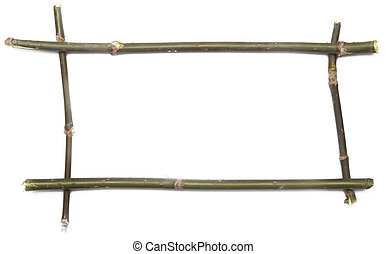 twig frame isolated over white
