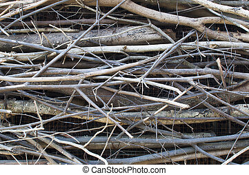 twigs, wood bundle