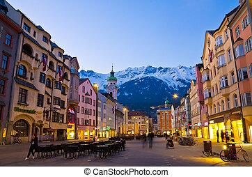 Innsbruck, Austria - Twilight at Innsbruck, Austria