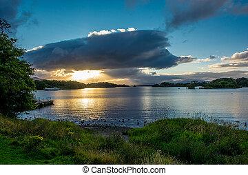 Twilight at Lough Leane in Ireland