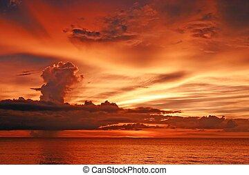 Twilight at maikao beach phuket