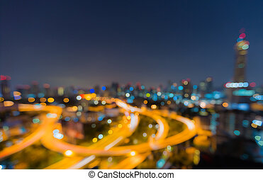 Twilight of Bangkok highway