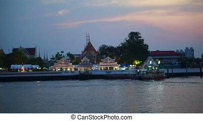 twilight of Bangkok skyline