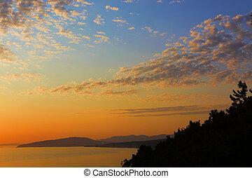 twilight sea scene