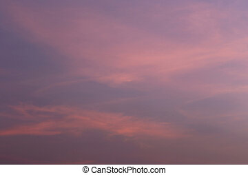 Twilight sky of beautiful in the Thailand summer.