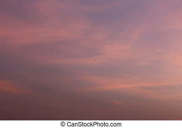 Twilight sky of beautiful in the Thailand summer nature tropical evening.