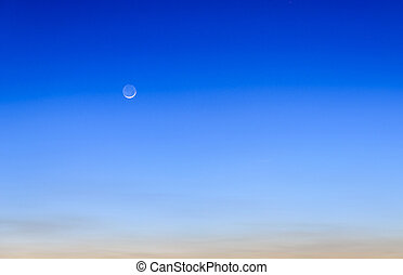 twilight sky with the moon