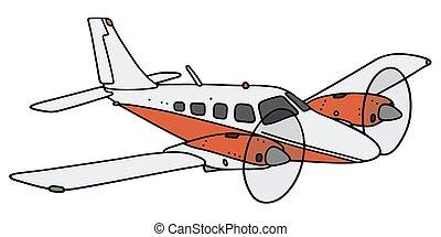 twin-engine, vliegtuig