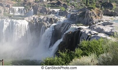 in USA the twin falls in idaho the beauty of amazing nature tourist destination