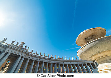 Twin fountain in Saint Peter square