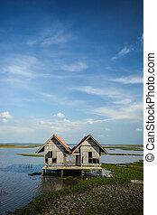 Twin House in beautiful landscape.