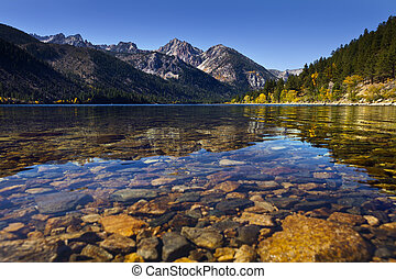Twin Lakes near Bridgeport, CA. Mountain lake with ...
