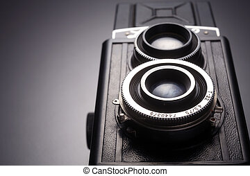twin lens reflex camera - stock image of the old camera
