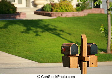 Twin mailboxes - Double mailboxes in sub-division home area