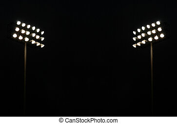 Twin Stadium lights - Twin Stadium Lights At A Sports...