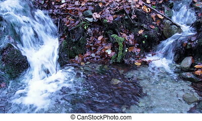 Twin Streams in November - Two streams of fresh and clean...