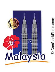 Twin Tower - The Petronas Tower in Kuala Lumpur, Malaysia