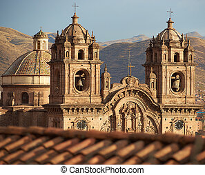 Iglesia de la Compania - Twin towers and dome of the ...