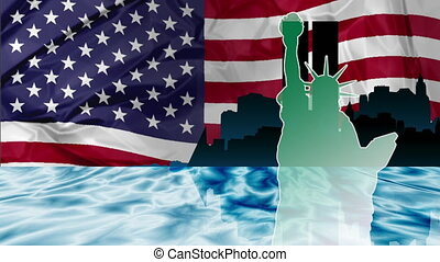 Twin Towers Attack - American patriotic animation of New...
