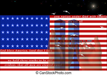 Twin Towers September 11 Composition
