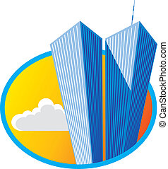 Twin Towers - Vector illustration of the World Trade Center.