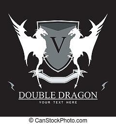 Twin White Dragon