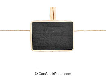 Twine and tablet on white background