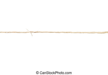Twine on white background