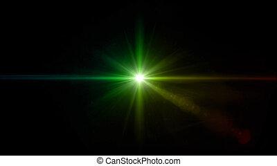 twinkle green star lens flare center