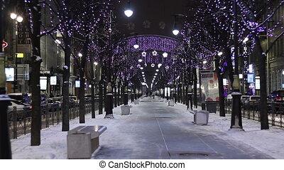 Twinkle lights in St Petersburg