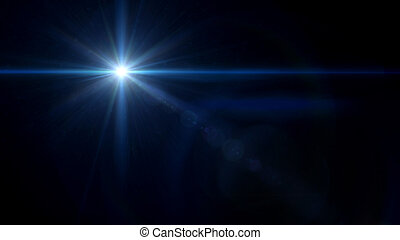 twinkle star cross lens flare blue